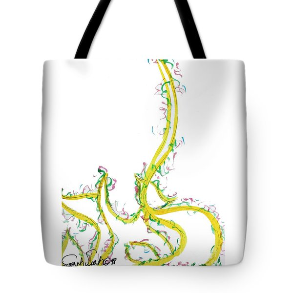 Tote Bag featuring the painting Leah Laya Nf2-70 by Hebrewletters Sl