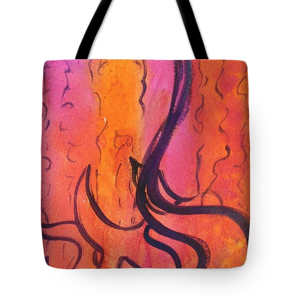 Tote Bag featuring the painting Leah Laya Nf2-67 by Hebrewletters Sl