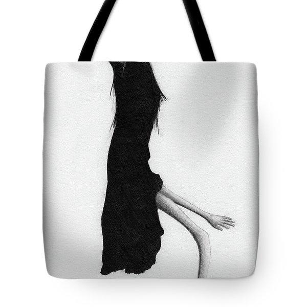 Leaning Woman Ghost - Artwork Tote Bag