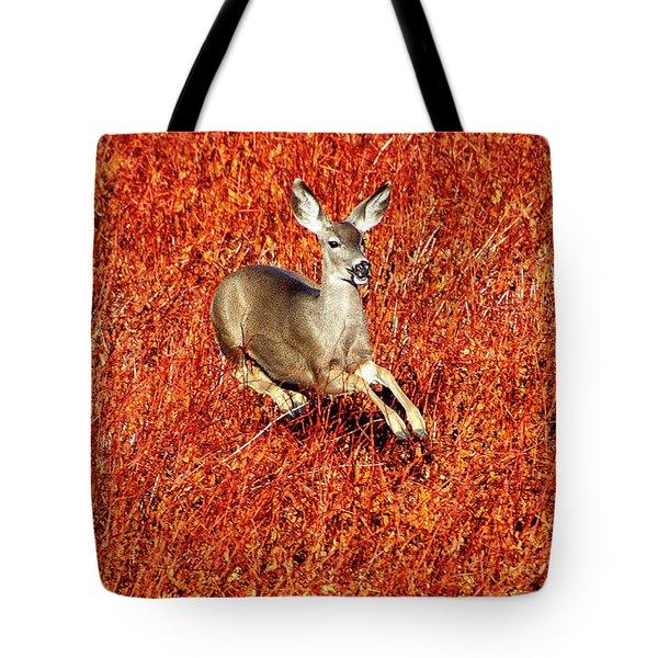 Leaping Deer Tote Bag