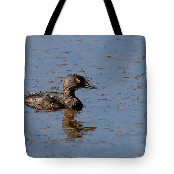 Tote Bag featuring the photograph Least Grebe by Thomas Kallmeyer