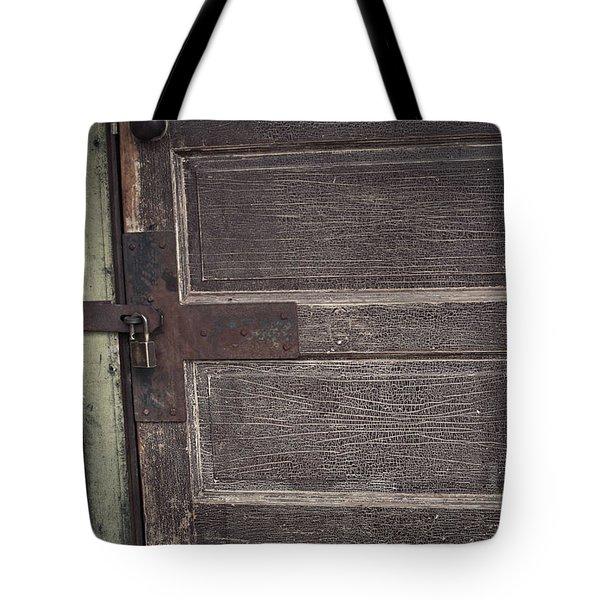 Leather Door Tote Bag