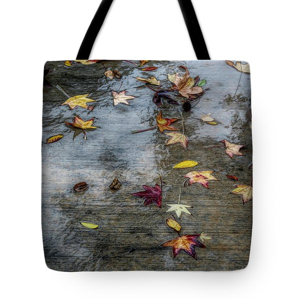 Leaves In The Rain Tote Bag