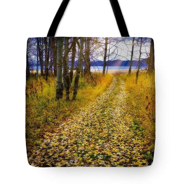Leaves On Trail Tote Bag