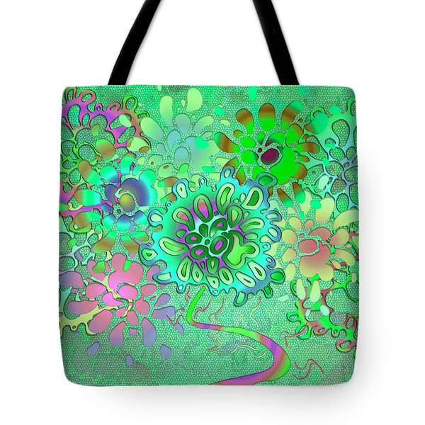 Tote Bag featuring the digital art Leaves Remix One by Vitaly Mishurovsky