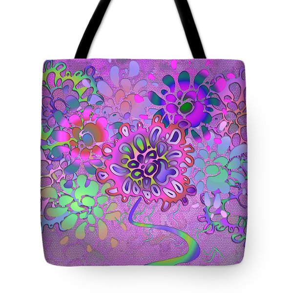 Tote Bag featuring the digital art Leaves Remix Three by Vitaly Mishurovsky