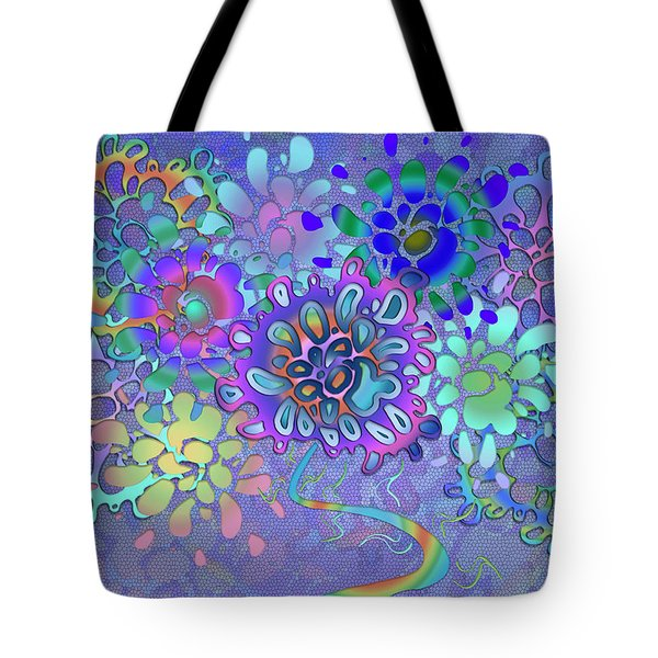 Tote Bag featuring the digital art Leaves Remix Two by Vitaly Mishurovsky