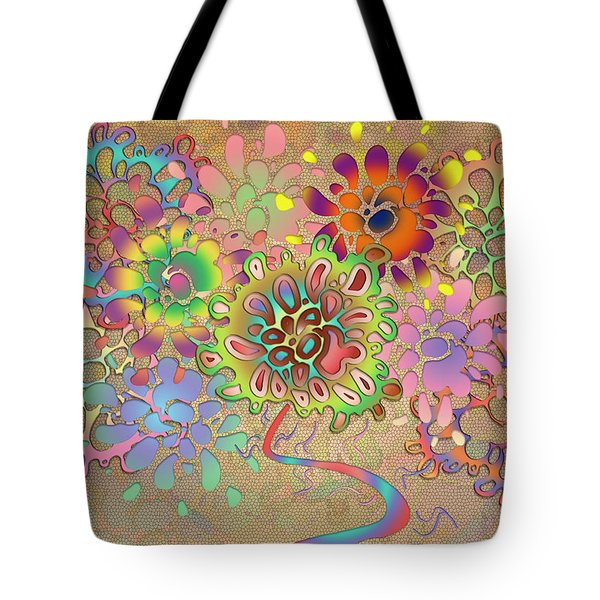 Tote Bag featuring the digital art Leaves by Vitaly Mishurovsky