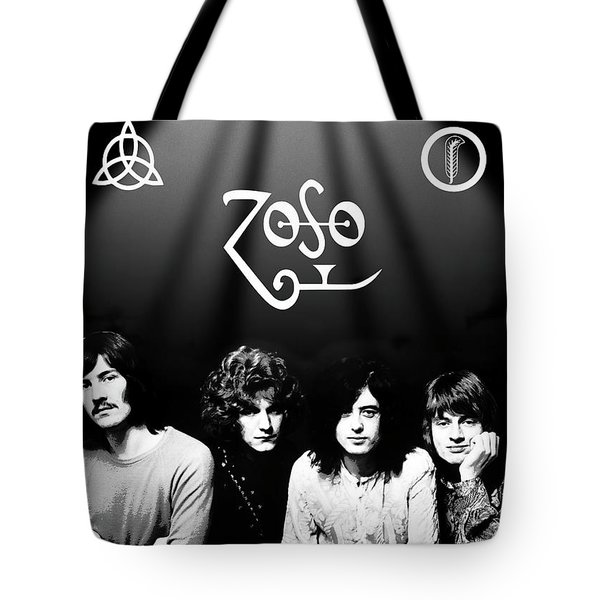 Led Zeppelin Band Tribute Tote Bag