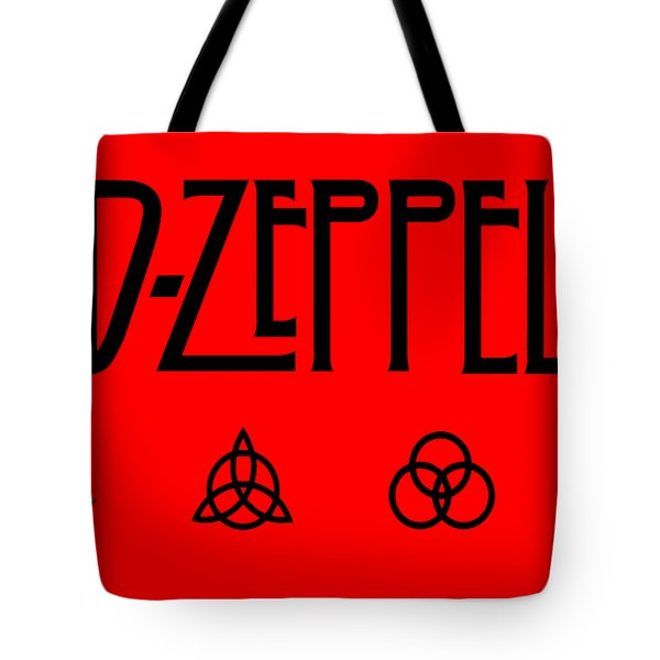 Led Zeppelin Z O S O - Transparent T-shirt Background Tote Bag