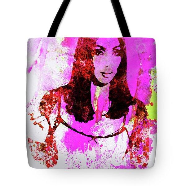 Legendary Cher Watercolor Tote Bag