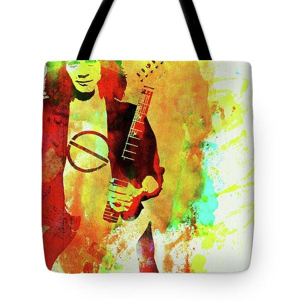 Legendary Eddie Van Halen Watercolor Tote Bag