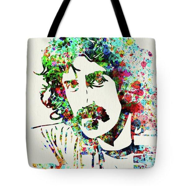 Legendary Frank Zappa Watercolor Tote Bag