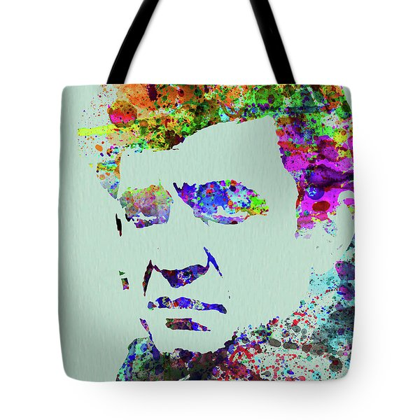 Legendary Johnny Cash Watercolor Tote Bag