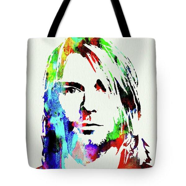 Legendary Kurt Cobain Watercolor Tote Bag