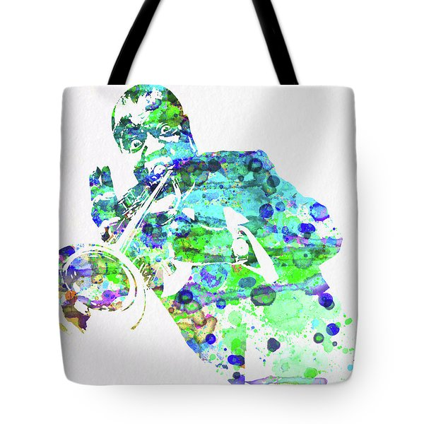 Legendary Louis Armstrong Watercolor  Tote Bag