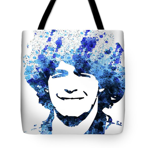 Legendary Maradona Watercolor Tote Bag