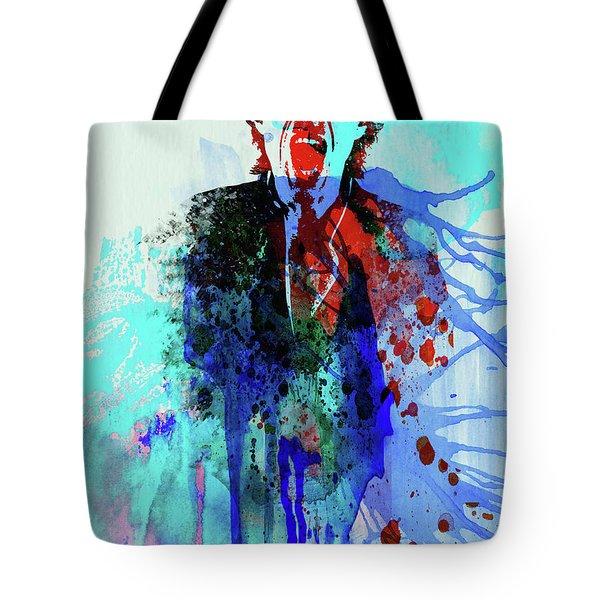 Legendary Mick Jagger Watercolor Tote Bag