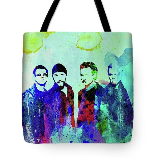 Legendary U2 Watercolor Tote Bag