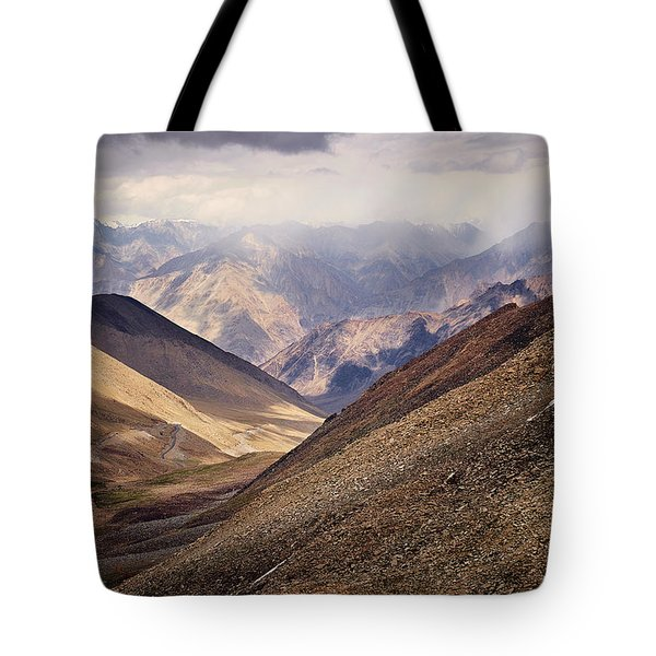 Tote Bag featuring the photograph Leh-manali Mountains by Whitney Goodey