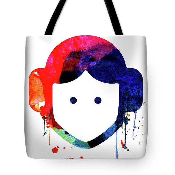 Leia Cartoon Watercolor Tote Bag
