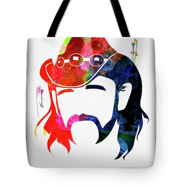 Lemmy Watercolor Tote Bag