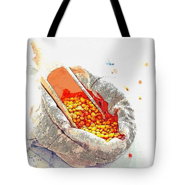 Lentils -  Watercolor By Ahmet Asar Tote Bag