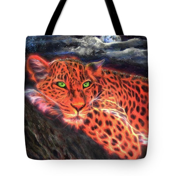 Leopard By Moonlight Tote Bag