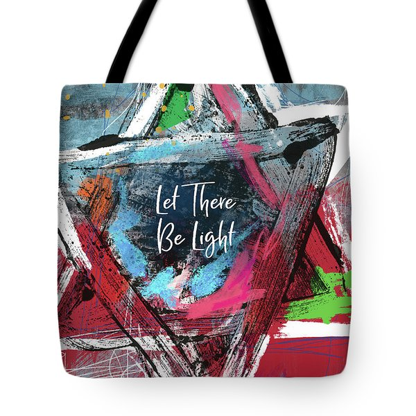 Let There Be Light Expressionist Star- Art By Linda Woods Tote Bag