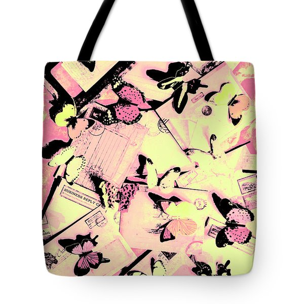 Letter Nests Tote Bag