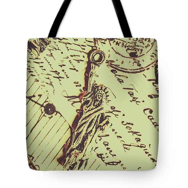 Letters Of Liberty Tote Bag