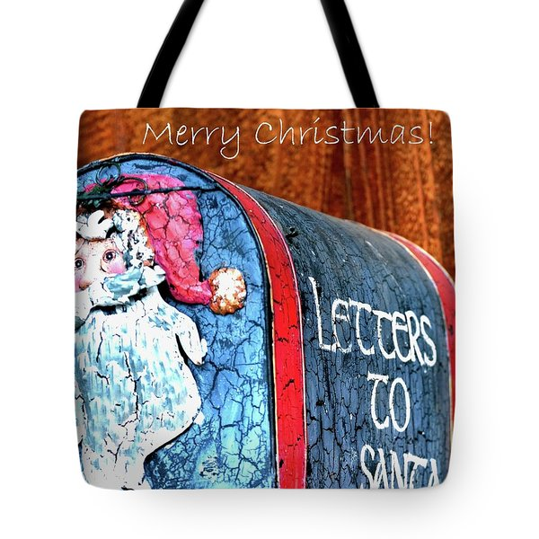 Tote Bag featuring the photograph Letters To Santa Greeting by Jerry Sodorff