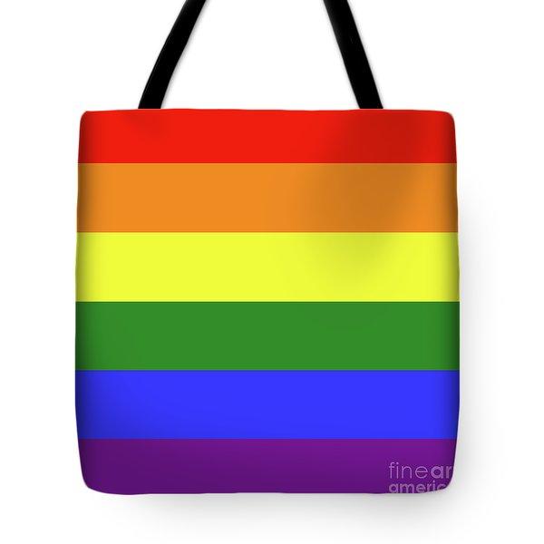 Lgbt 6 Color Rainbow Flag Tote Bag