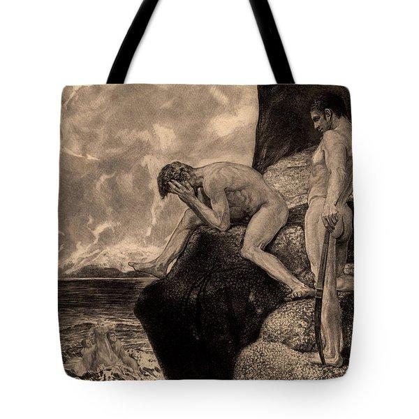Liberation Of Prometheus By Hercules, The Freed Prometheus, 1894 Tote Bag