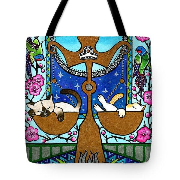 Libra Cat Zodiac Tote Bag