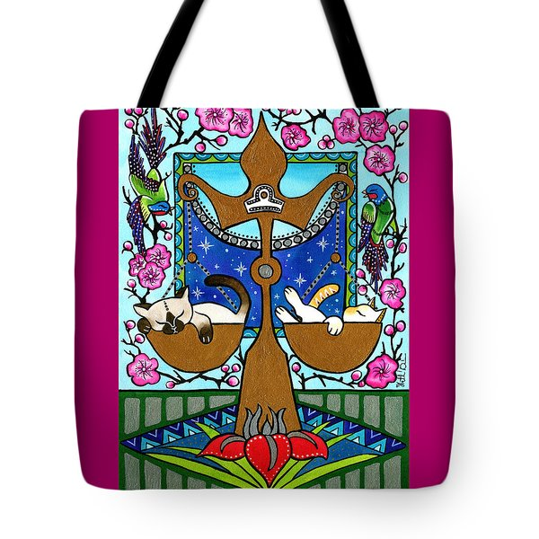 Libra Cat Zodiac Tote Bag
