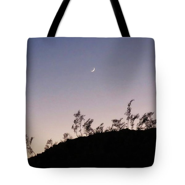 Libra Twilight Crescent Tote Bag