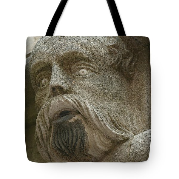 Life Sized Sculptures Of Human Heads Tote Bag