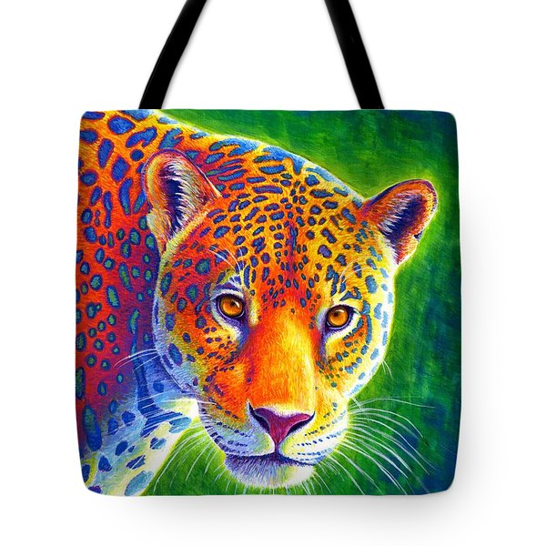 Light In The Rainforest - Jaguar Tote Bag