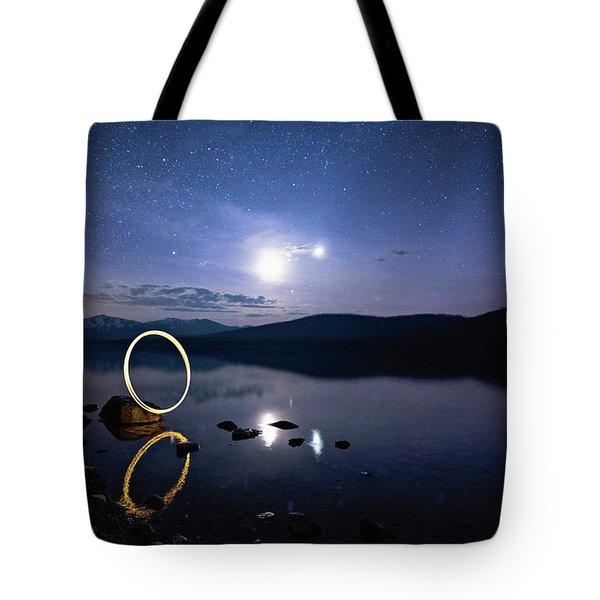 Light Painting Lake Mcdonald Tote Bag