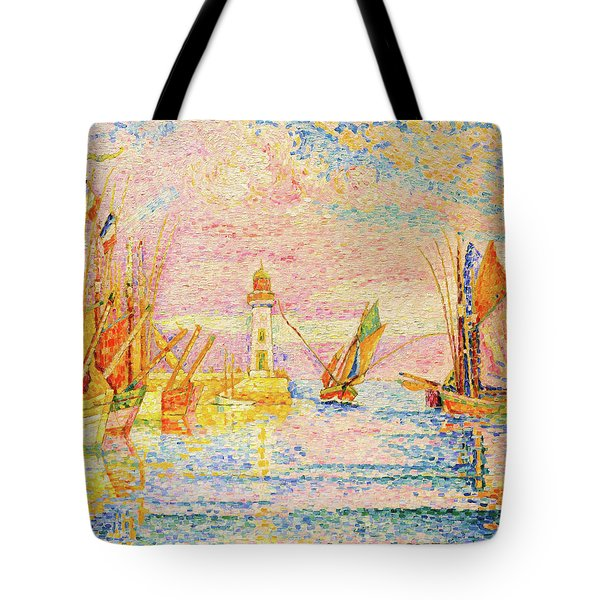 Lighthouse At Groix - Digital Remastered Edition Tote Bag