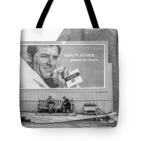 Tote Bag featuring the photograph Lighting Up For A Quick Smoke by Jeremy Holton