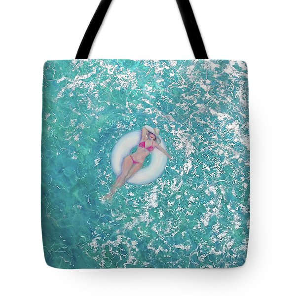 Tote Bag featuring the painting Lightness Of Being by Eva Konya