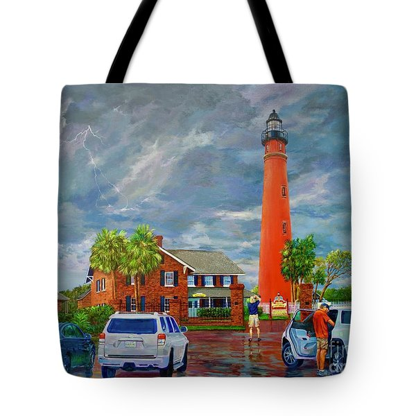 Lightning And The Light Tote Bag