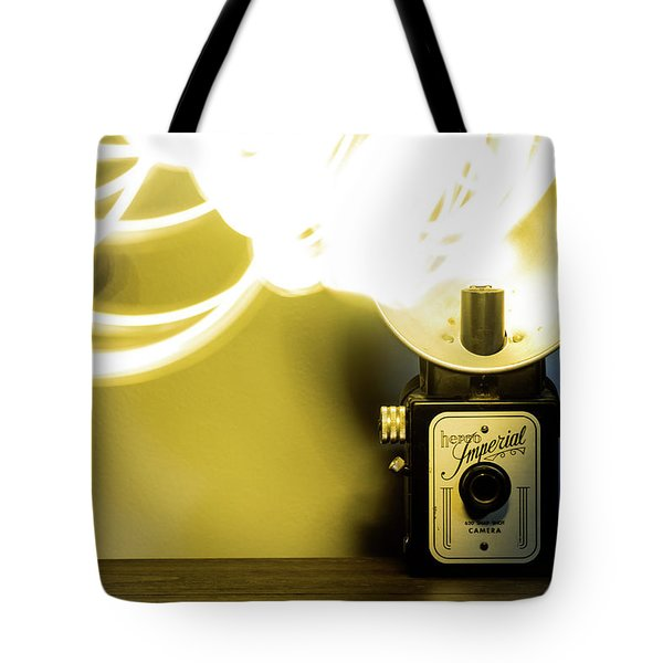 Tote Bag featuring the photograph Lights, Camera, Action by Melissa Lane