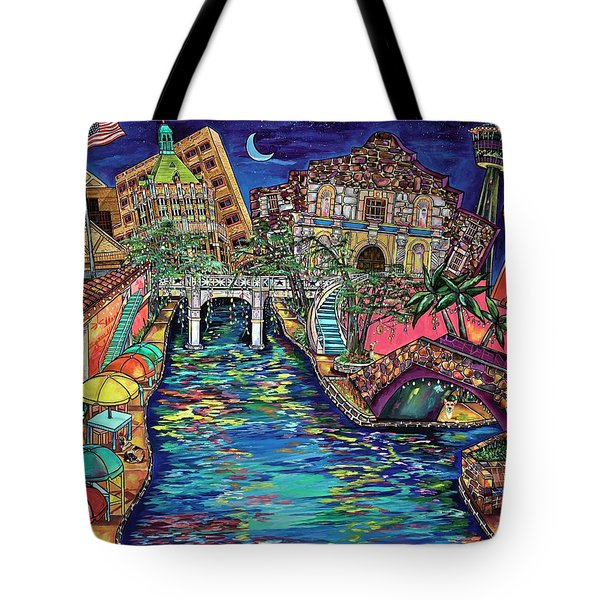 Lights On The Banks Of The River Tote Bag