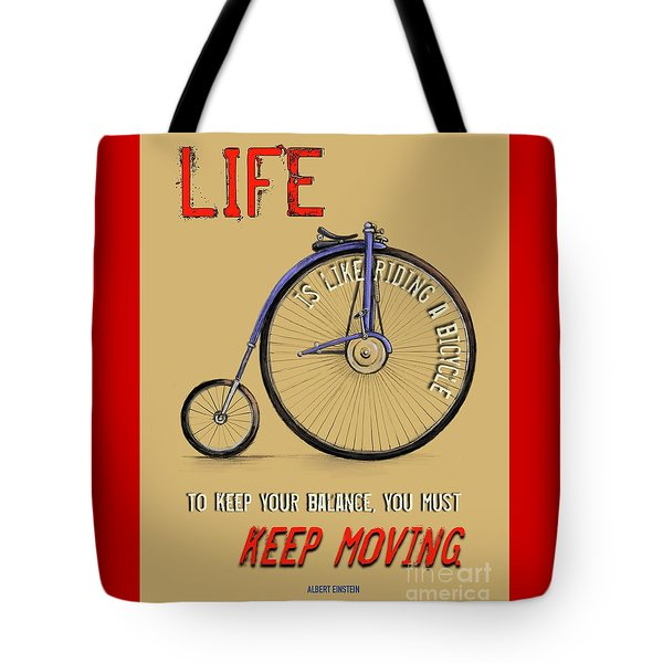 Like Riding A Bicycle Tote Bag