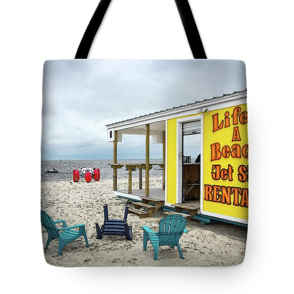 Tote Bag featuring the photograph Like's A Beach by Jim Mathis
