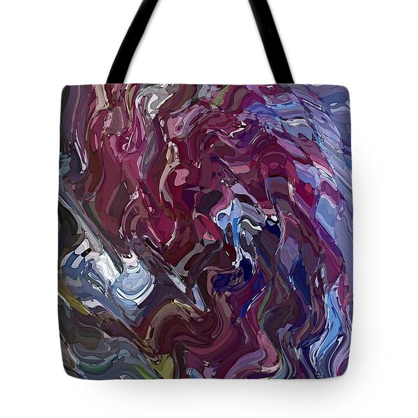 Tote Bag featuring the digital art Lilac Oil by David Manlove