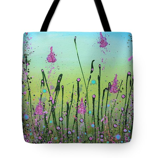 Lilacs And Bluebells Tote Bag